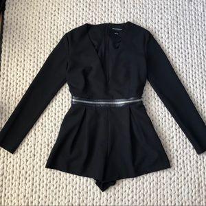 Stylestalker low cut black sexy romper size small